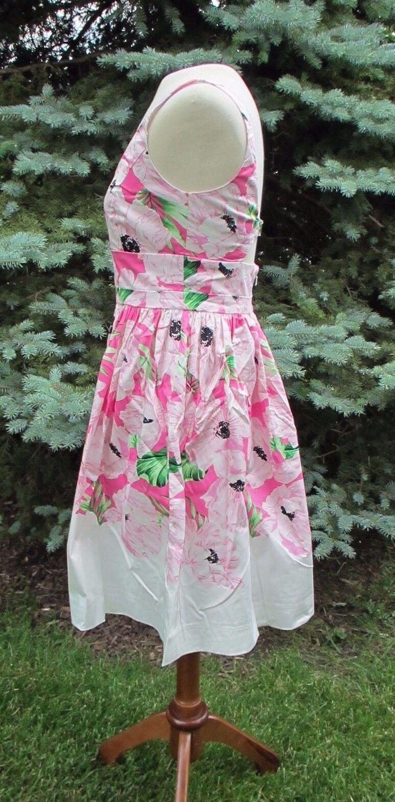 187 French Connection Connection Connection Holiday Poppy Cutout Dress (0, 4) NWT SOLD OUT 9671e3