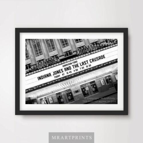 INDIANA JONES LAST CRUSADE Art Print Poster Cinema Sign Marquee Movie Film Ford