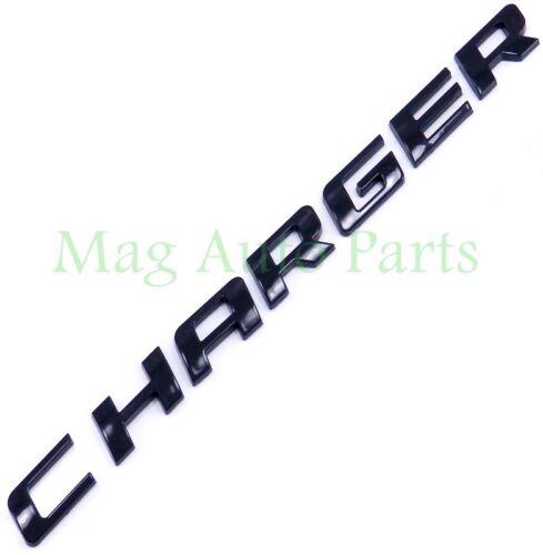 Dodge Charger R//T Black script door trunk emblem 1pc letter 08-13 RT SXT 09 11