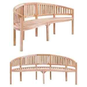 vidaXL-Solid-Teak-Garden-Bench-Banana-shaped-78-7-034-Patio-Chair-Seat-Furniture