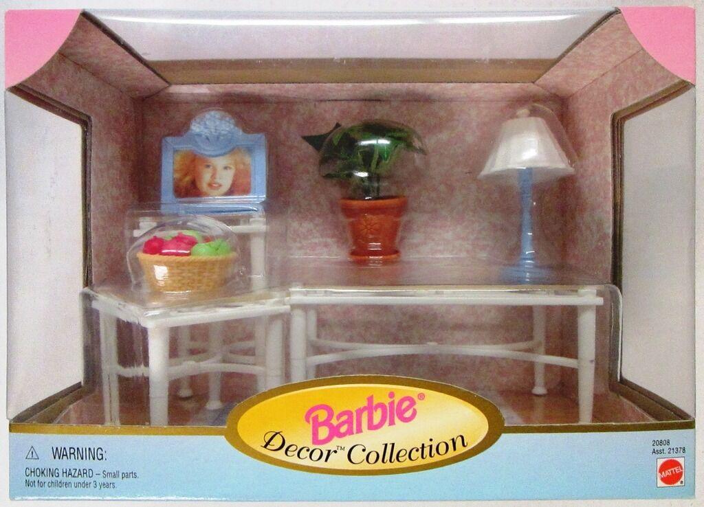 Barbie Sala De Estar Mesas + Accesorios (Colección Decoración De Barbie) (Nuevo)