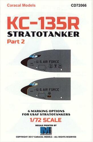 Caracal Models 1//72 72066 x KC-135R Stratotanker Part 2 decals