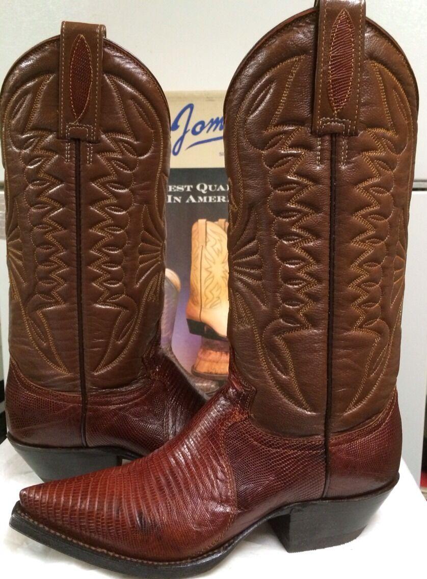 Joma Women's 265  Western Boots   Brown  Lizard Size 4.5 M NEW