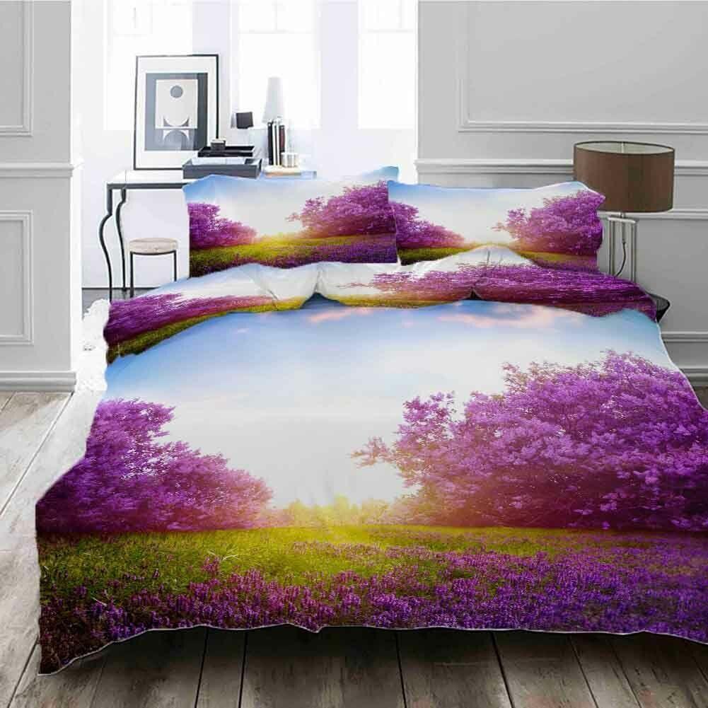 violet Nice Ocean 3D impression couette courtepointe volonté des couvertures PilFaible cas literie ensembles