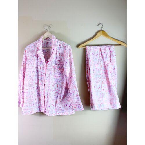 Victoria's Secret 2pc Pajamas Set Large Cotton Be… - image 1