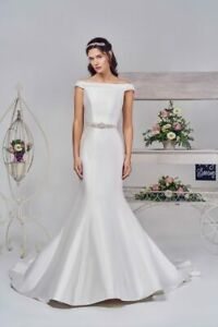 Details About Phoenix Gowns Wedding Dress Style W712 And Belt Ivory Size 16 New