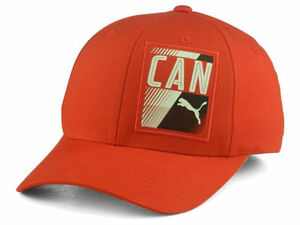 quality design 16bb2 1d4e8 Image is loading Puma-Canada-Country-Red-Stretch-Fitted-FlexFit-Cap-