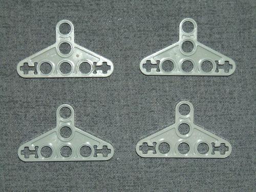 LEGO Technic 4 x Liftarm Triangle Thin Bracket GREY 2905