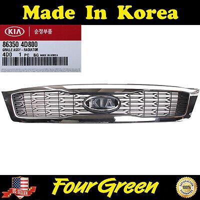 Genuine Radiator Grill //Bumper upper Grill for Kia Sedona 09-12 New 863504D800