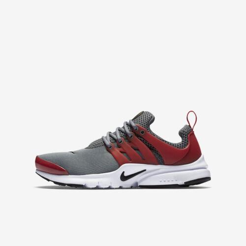 Nike Presto GS Gray Red White Black 833875-002 Big Kid's Shoe Grade School