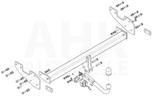 Für Toyota Hilux VIII AN120//AN130 ohne Tragbalken Anhängerkupplung starr+ES 7p