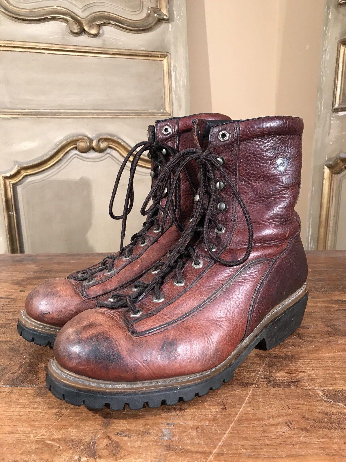 Vintage Herman Survivor Hiking Climbing Military Stiefel Größe 12 XW Rare