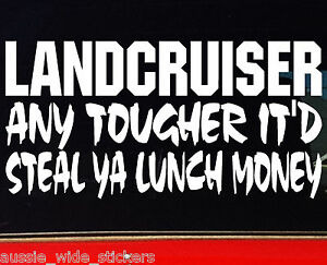 200mm-Funny-Offroad-4x4-Series-Car-Stickers-LUNCH-MONEY-LAND-CRUISER