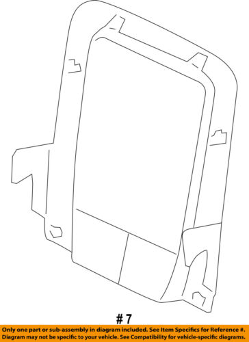 Dodge CHRYSLER OEM 12-14 Journey Driver Seat-Seat Back Panel Left 1LQ99GT5AA