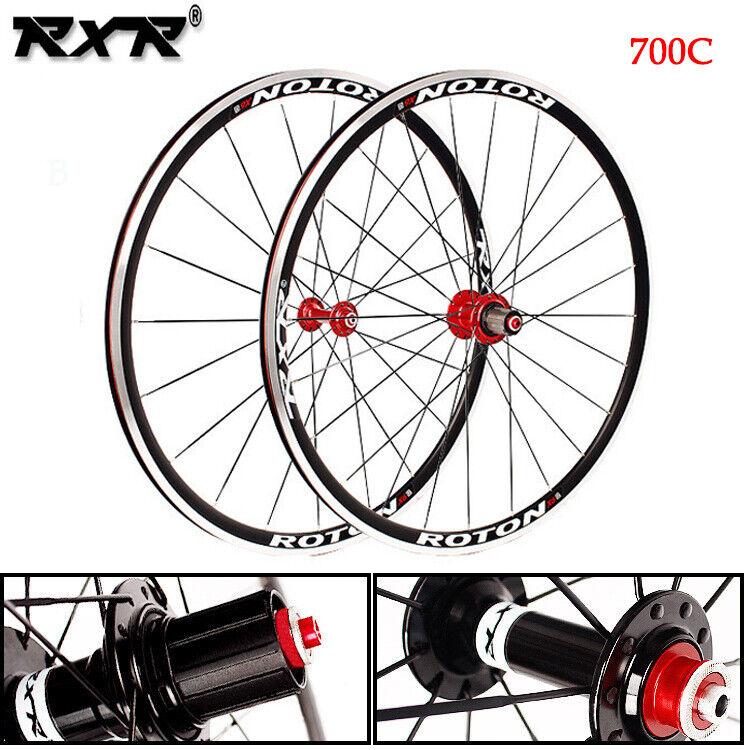 Aluminum 700C Road Bike Wheels set 7-11S  Front Rear Cycling Bicycle Wheelset Rim  low price