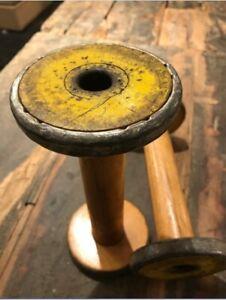 Industrial-Textile-Spool-Vintage-Wood-Spindles