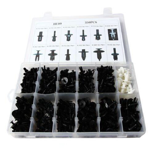 350pcs Auto Car Panel Moulding Assortments Kit Push Retainer Pin Rivet Trim Clip