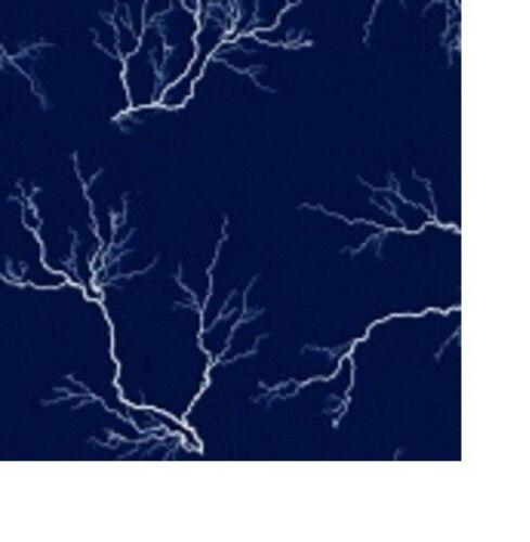 Lightening Strikes Dark Navy night Sky BTY cotton quilt fabric by Blank