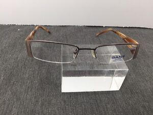 9a60a2d9e49 Gant 52/19 135 Rimless Flex Hinge Brown/cream Eyeglasses 4898 | eBay