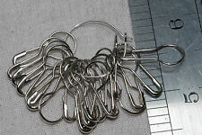 20 coilless safety pins steel colour knitting stitch markers non snag scarf