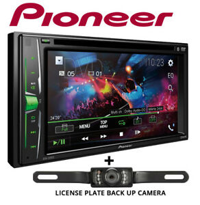 Pioneer-AVH200EX-6-2-034-Bluetooth-DVD-Receiver-License-Plate-Style-Backup-Camera