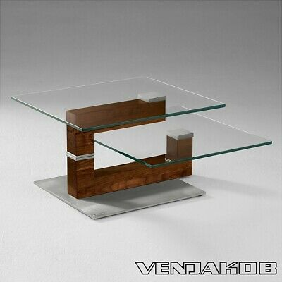 Coffee Table Two Level Glass Swivel Table In Excellent Condition Hardly Used Ebay