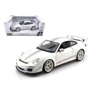 Porsche-911-GT3-RS-4-0-Blanco-1-18-automovil-de-fundicion-al-Bburago-Modelo