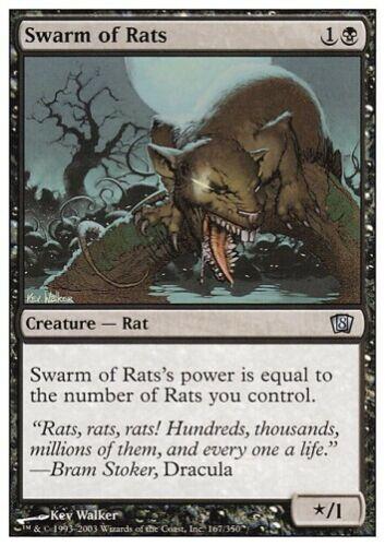 MTG 4x Swarm of Rats 8th Edition Council Deck