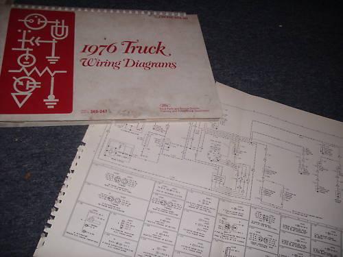1976 FORD W-SERIES W SERIES TRUCKS WIRING DIAGRAMS SET