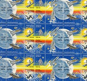 Space Achievement Mint Sheet of 48 Stamps, Scott #1912-1919, MNH, Free Shipping!