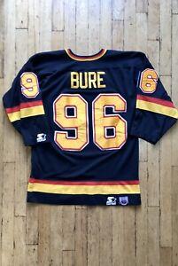 RARE-VANCOUVER-CANUCKS-Men-039-s-NHL-Starter-Jersey-M-Pavel-BURE-96-Black-1995