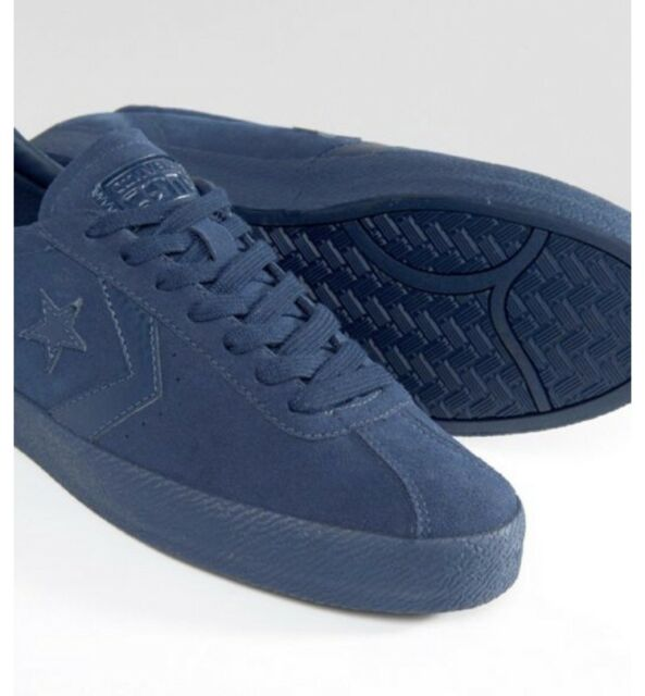Mens Converse All Star Break Point Suede Skate Shoes Size 11 Navy Blue 153987c