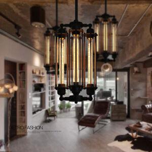 Image Is Loading 4 Heads Steampunk Style Chandelier Vintage Pendant Light