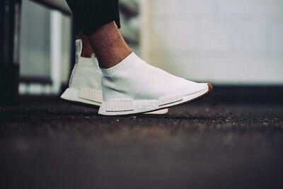 Adidas NMD CS1 City Sock PK Size 13 Primeknit White Gum