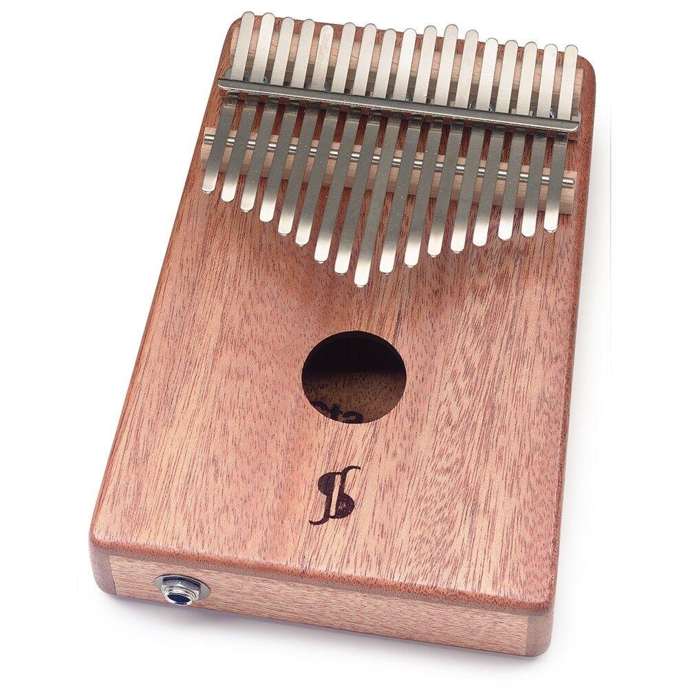 Stagg 17-Key Professional Electro-Acoustic Mahogany Box Kalimba w  Steel Tines
