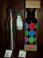 Smart Planet 25 - 27 Oz Stainless Steel Water Bottle W Clip Bpa Free