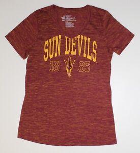 Arizona State University Sun Devils ASU Women s V Neck T Shirt Size ... f1bfb5398