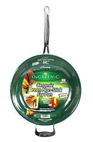 Telebrands Orgreenic 12-inch Ceramic Non-stick Kitchen Cookware Frying Pan Pot