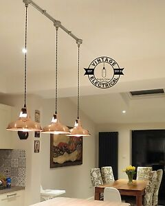 Image Is Loading 3 X Copper Vintage Hanging Ceiling Table