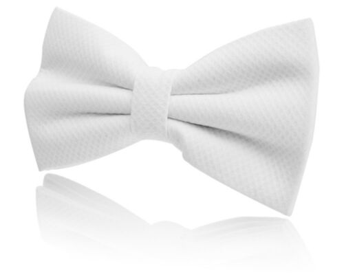 WHITE READY TIED BOW TIE COTTON MARCELLA WHITE FOR TIE MANSION HOUSE FUNCTIONS