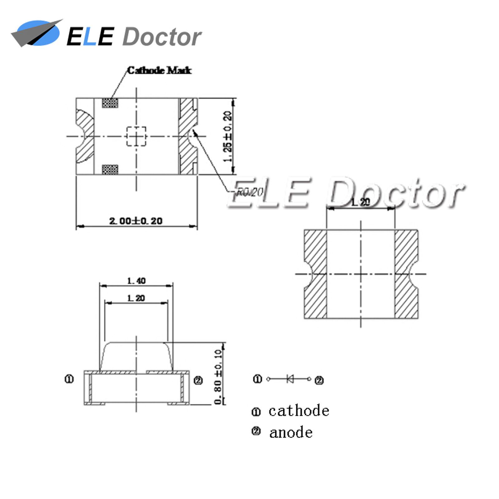 0402 0603 0805 1206 1206 1206 Pre-Wirosso SMD LED Diodes Micro Mini DIY giocattolo modello luci f8e8c4