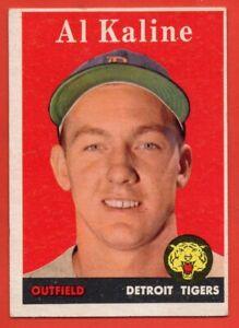 1958 Topps #70 Al Kaline EX/EX++ WRINKLE HOF Detroit Tigers FREE SHIPPING