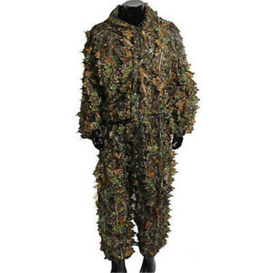 3D-Hunting-Clothing-Leafy-Camouflage-Tactical-Ghillie-Suit-Woodland-Camo-Jungle