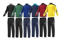 Adidas Sereno Mens Full Tracksuit Zip Bottoms Tops Jogging Sports Football Size