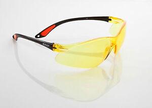3x KA.EF. Schutzbrille VIEW/gelb CE + EN166 + EN170 + ANSI Z87.1, UV-Schutz