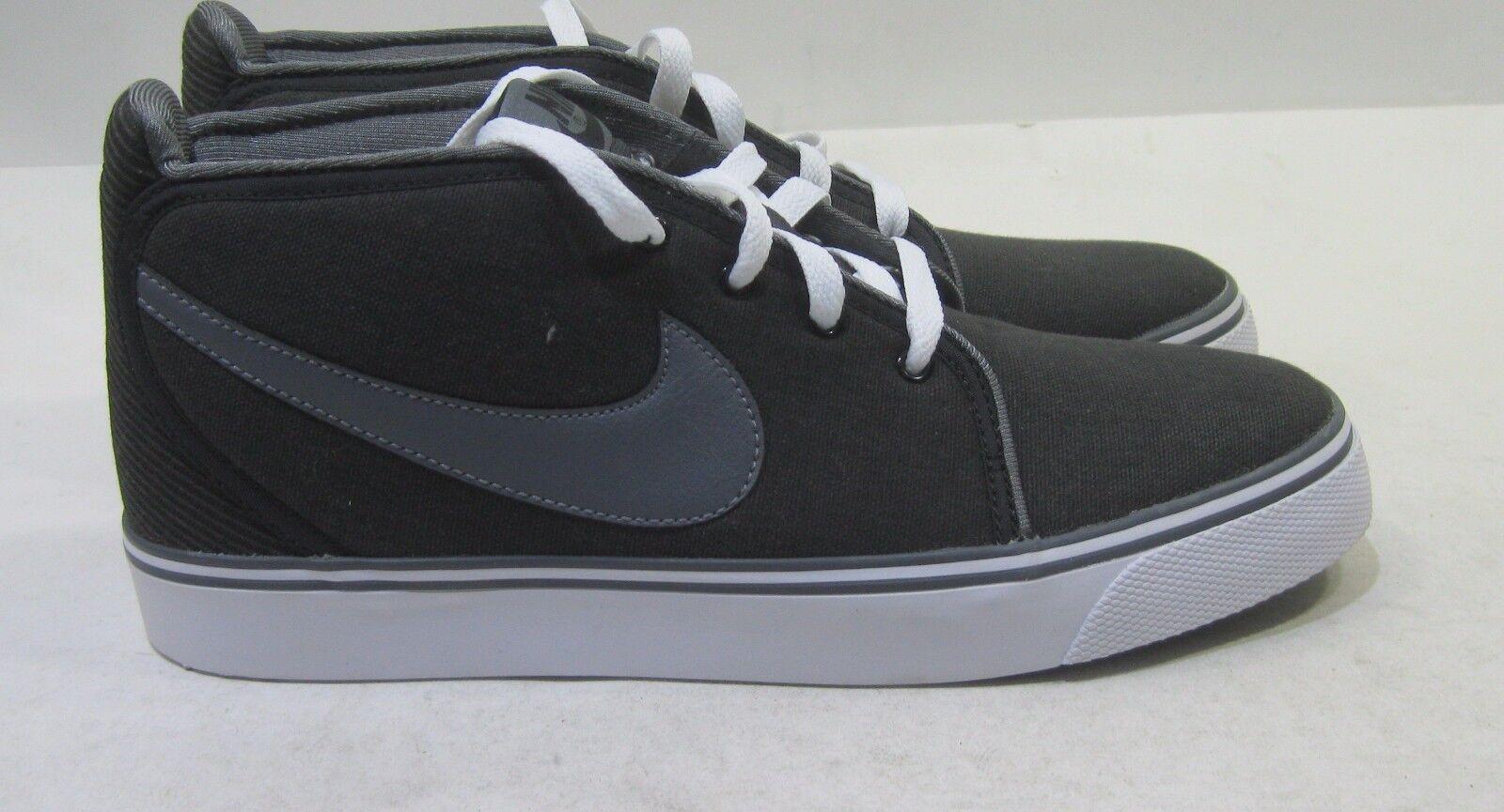 new Nike Toki Canvas 446336-090 Black/Dark Grey White Comfortable