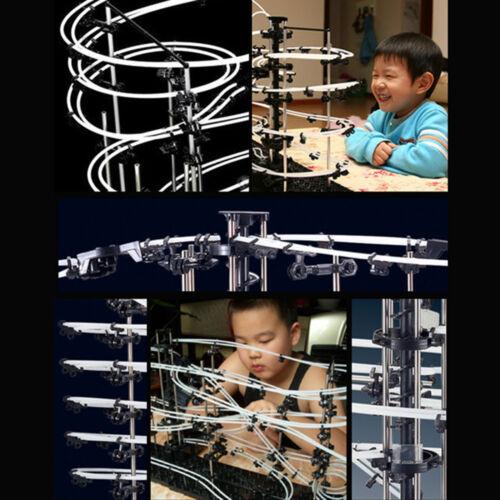 Level 4 SpaceRail 26000mm Marble Roller Coaster With Steel Balls Spacewarp DIY