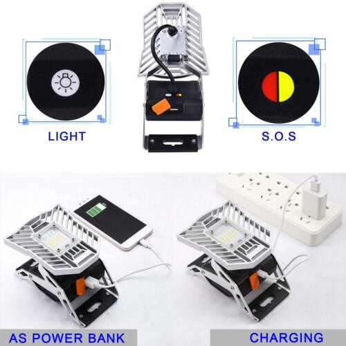 USB Port Portable Rechargeable LED Spider Mobile Task Light Camp Magnetic Stand