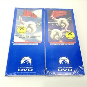 LOT 2 Brand New Sealed Long Pack AIRPLANE + AIRPLANE 2 DVD Movies Classic Comedy