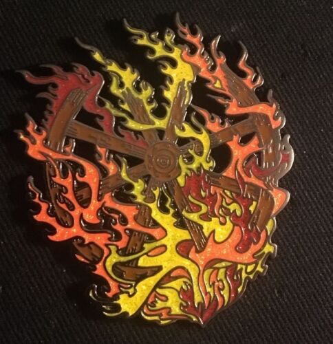 """Grateful Dead-Mark Serlo """"LE 150 Burning Firewheel"""" Pin Limited Edition Sold Out"""